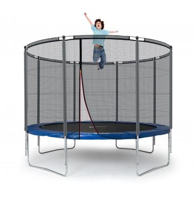Image of   Klassik 305 cm trampolin med kantpude og forstærket udvendigt sikkerhedsnet Blå