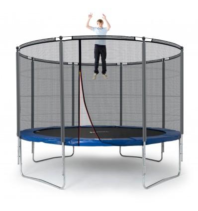 Image of   Klassik 366 cm trampolin med kantpude og forstærket udvendigt sikkerhedsnet Blå