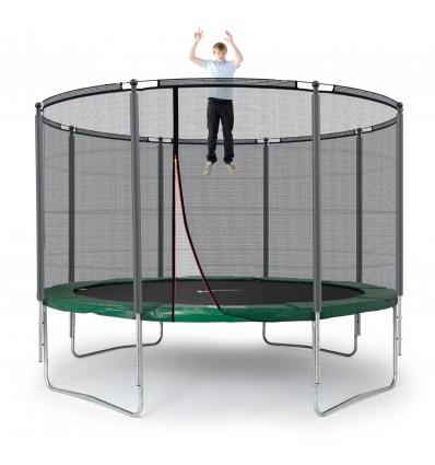 Image of   Klassik 366 cm trampolin med kantpude og forstærket udvendigt sikkerhedsnet Grøn