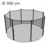 Reserve-sikkerhedsnet til klassik 366 cm trampolin med 8 stolper (uden stolper)