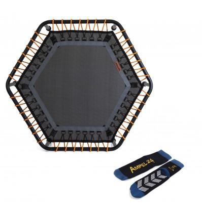 Image of   Fitness Trampolin 110cm, Hexagon med 6 justerbar elastiske stropper