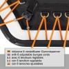 Fitness Trampolin 110cm, Hexagon med 6 justerbar elastiske stropper