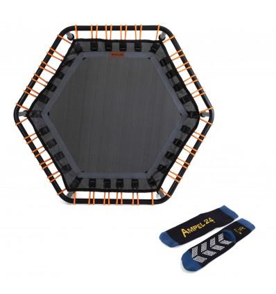 Image of   Fitness Trampolin 110cm, Hexagon med 60 justerbar elastiske stropper