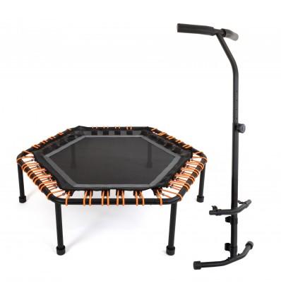 Image of   Fitness Trampolin 110cm med håndtag, Hexagon med 60 justerbar elastiske stropper