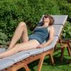 Pool solseng Nice med hynde, justerbar| 3-delt | kan stables