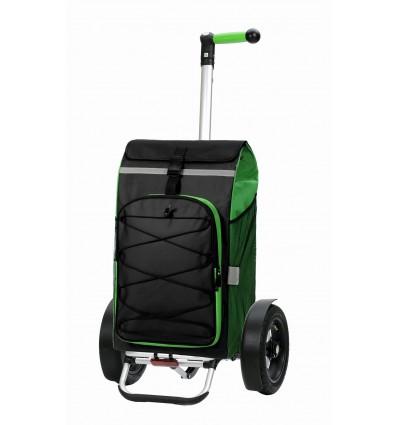 Image of   *DEMO* Tura Shopper Fado, lufthjul - Indkøbsvogn Trolley på hjul med ergonomisk håndtag grøn