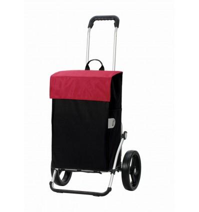 Image of   *DEMO* Royal Shopper Hera (med 3-eger-hjul) - Indkøbsvogn Trolley på hjul rød