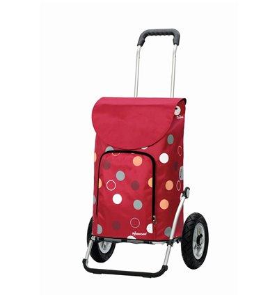 Image of Royal Shopper Kira (Med Lufthjul) - Indkøbsvogn Trolley på hjul rød
