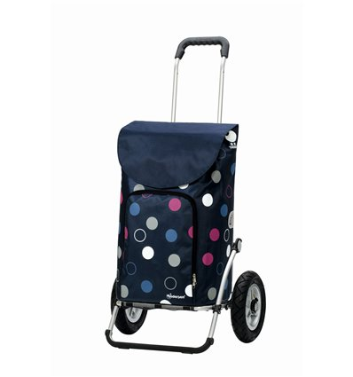 Image of Royal Shopper Kira (Med Lufthjul) - Indkøbsvogn Trolley på hjul blå