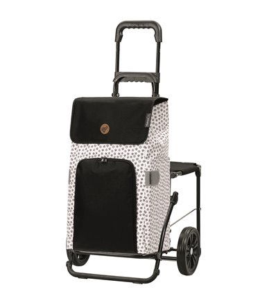 Komfort Shopper Mara - Indkøbsvogn Trolley på hjul med sæde