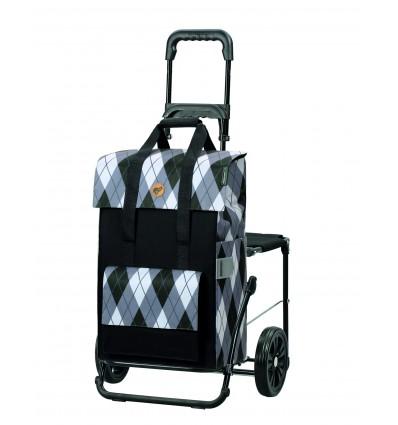 Komfort Shopper Ivar - Indkøbsvogn Trolley på hjul med sæde
