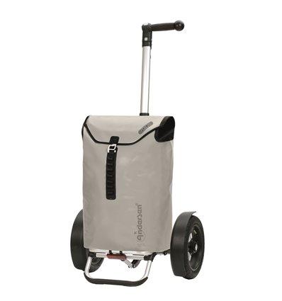 Tura Shopper Ortlieb, Lufthjul - Indkøbsvogn Trolley på hjul med ergonomisk håndtag